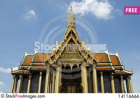 Free Emerald Buddha Temple In Bangkok Royalty Free Stock Image - 14116666