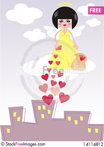 Free Angel Giving Love Stock Photography - 14116812