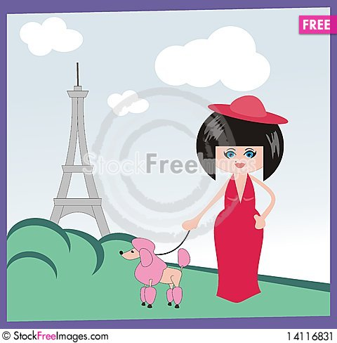 Free The Lady In Paris Stock Image - 14116831