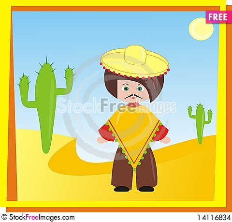 Free Mexican Man Stock Images - 14116834