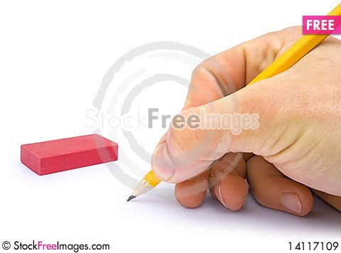 Free Hand With The Pencil Royalty Free Stock Images - 14117109
