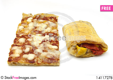 Free Roulade Of Peppers And Pizza Royalty Free Stock Photos - 14117278