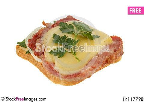 Free Sandwich On White Royalty Free Stock Photos - 14117798