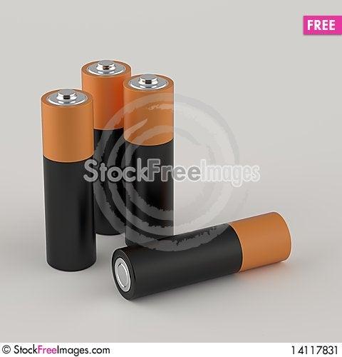 Free AA Batteries Stock Image - 14117831