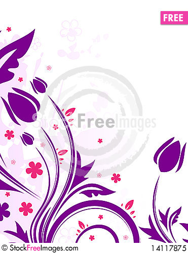 Free Floral Background Royalty Free Stock Photo - 14117875