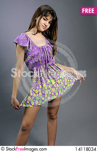 Free Young Model Posing With Her Beautiful Dress Stock Images - 14118034