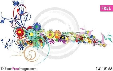Free Beautiful Flowers Decoration Royalty Free Stock Image - 14118166