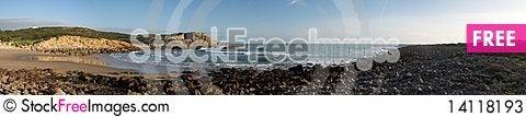 Free Panorama Of Deserted Beach Stock Photos - 14118193