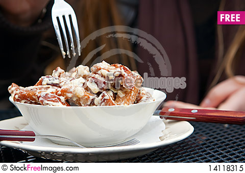 Free Fried Bread With Cheese Royalty Free Stock Photo - 14118315