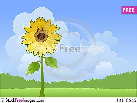 Free Sunny Landscape Royalty Free Stock Image - 14118546