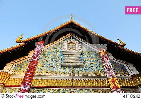 Free Thai Style Tympanum Stock Photography - 14118642