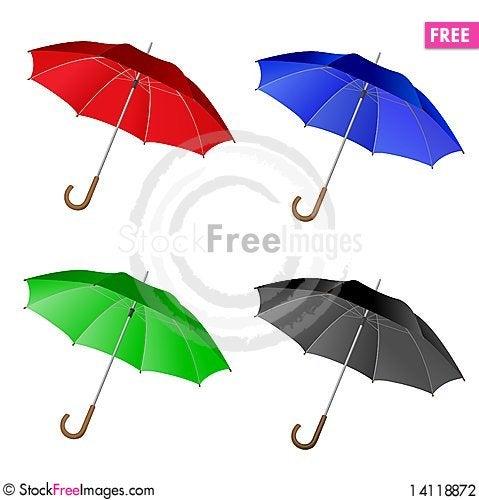 Free 4 Umbrella Set Stock Photography - 14118872