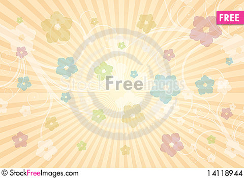 Free Cute Flowers Background Stock Images - 14118944