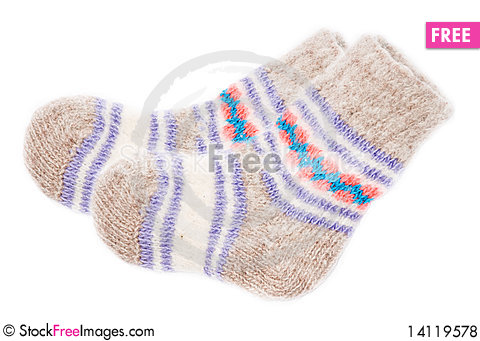 Free Knitted Socks Royalty Free Stock Photos - 14119578