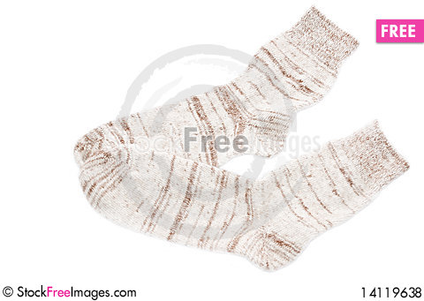 Free Knitted Socks Royalty Free Stock Photos - 14119638