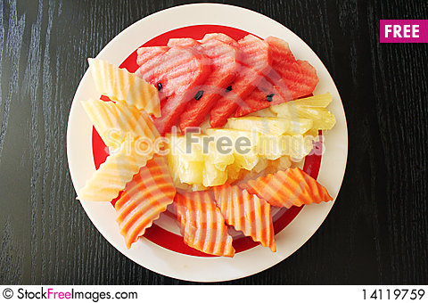 Free Thai Fruits Carving Royalty Free Stock Images - 14119759