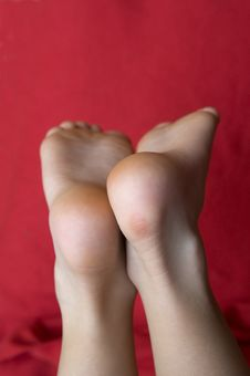 Free Feet Of The Boy Stock Photography - 14110252