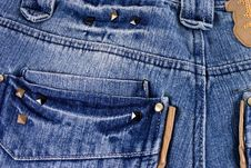 Free Blue Jeans Texture Stock Images - 14110544