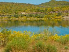 Free Lake Pleasant Reflection Royalty Free Stock Photos - 14110718