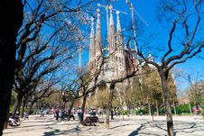 Free Sagrada Familia Cathedral Royalty Free Stock Photos - 14111008