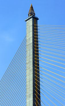 Free Cable-stayed Bridge Royalty Free Stock Photos - 14111058