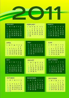 Free Calendar 2011 Stock Photography - 14111062