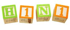 Free H1N1 In Alphabet Blocks Stock Images - 14111824