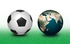 Free Football And Earth Stock Photography - 14112192