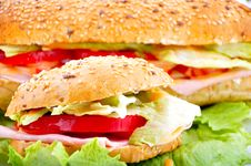 Round Sandwich Royalty Free Stock Photography