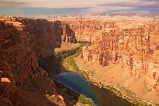 Free Colorado River Gorge Royalty Free Stock Image - 14112466