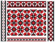 Pattern Ukrainian Embroidery Texture