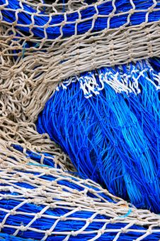 Free Blue Fish Net Background Stock Photography - 14113032