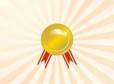 Free Medal In The Rays Stock Images - 14113114