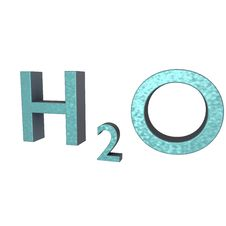 Free H20 Letters 3d Stock Photo - 14113130
