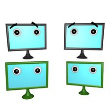 Flatscreens Plain 3d Royalty Free Stock Photo