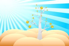 Free Tree With Coins Stock Photography - 14113162