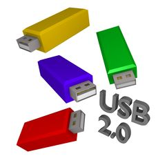 Free Usb Sticks Colorfull 3d Stock Images - 14113164