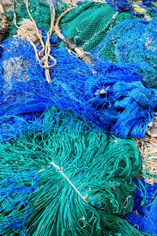 Free Blue Fish Net Background Royalty Free Stock Photos - 14113288