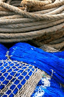 Free Fishing Equipment, Fish Net Royalty Free Stock Photo - 14113485