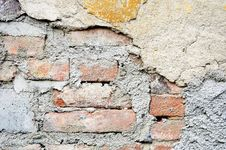 Free Old Plastered Brick Wall Stock Image - 14113631