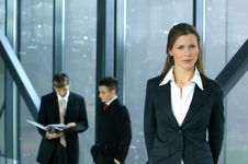 Young Business Colleagues Working Together Royalty Free Stock Image