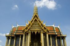 Emerald Buddha Temple In Bangkok Royalty Free Stock Image