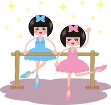 Free Dancing Ballerinas Royalty Free Stock Image - 14116816