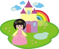 Free The Little Princess And The Fantastic Castle Stock Photo - 14116850