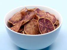 Sweet Potato Crisps Stock Image