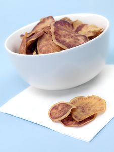 Free Sweet Potato Crisps Royalty Free Stock Photo - 14117385