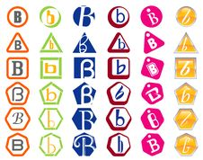 Letter B Icons Badges And Tags Stock Photography