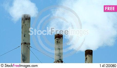 Free Three Smokestacks Stock Photo - 14120080