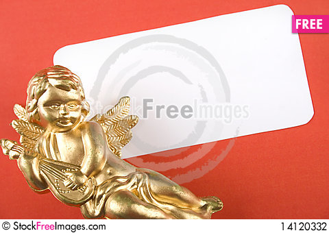 Free Invitation To The Day An Angel Stock Photography - 14120332