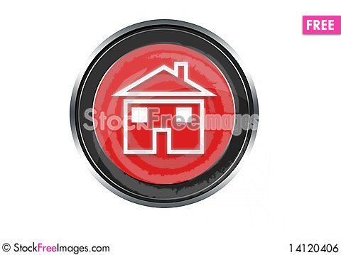 Free Home Button Royalty Free Stock Image - 14120406
